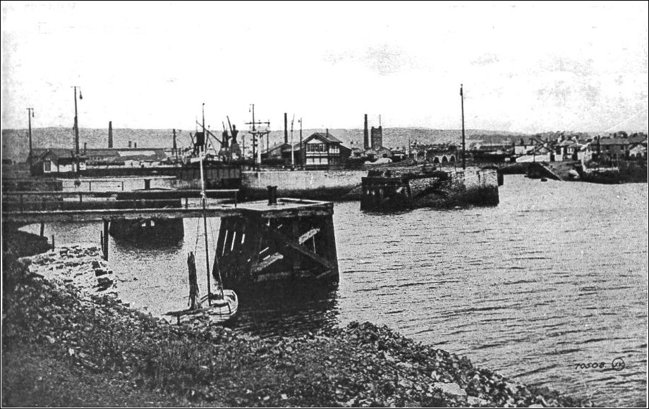 Entrance to Llanelli North Dock early 20th Century