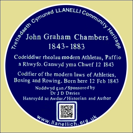 Proposed Blue Plaque for John Graham Chambers at Llanelly House