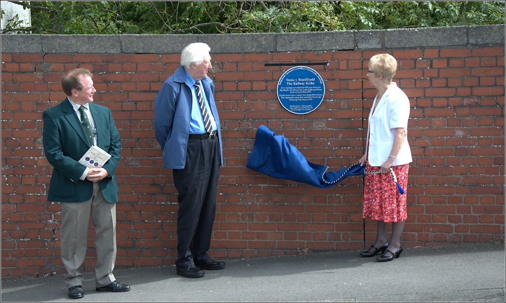 Unveiling of the Blue Plaque by John Edwards and Carol Slade