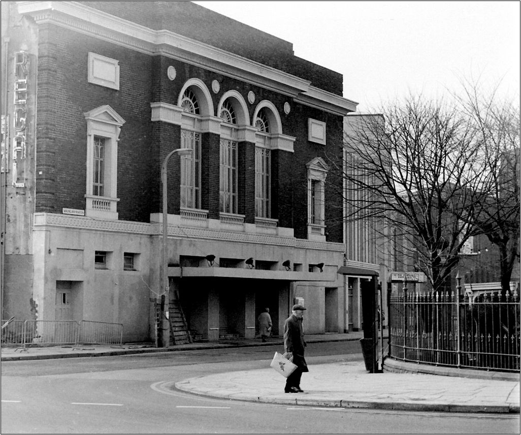 Regal Cinema destroyed by fire c1969 was the venue of Dorothy Squires charity performance for the  Dafen Welfare Club in September 1949. Photograph by N. Tonge
