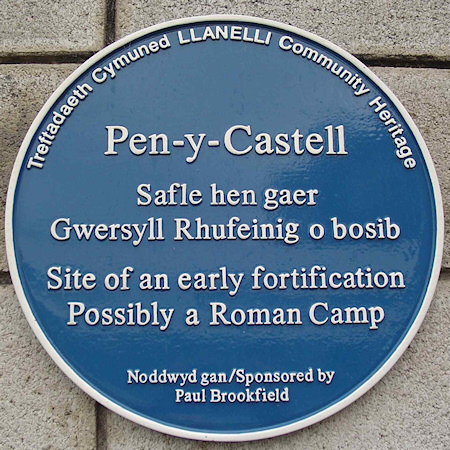 Pen-y-Castell Blue Plaque