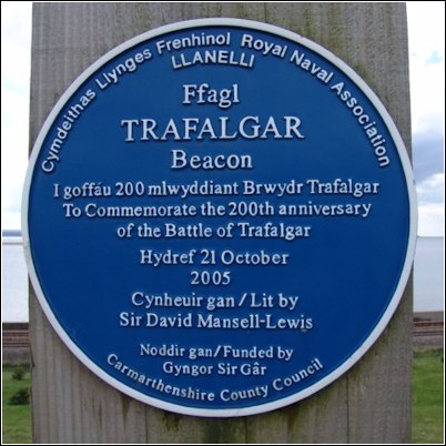 Trafalgar Beacon Blue Plaque