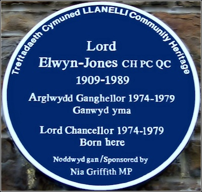 Lord Elwyn-Jones blue plaque