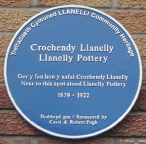 Llanelly Pottery Blue Plaque