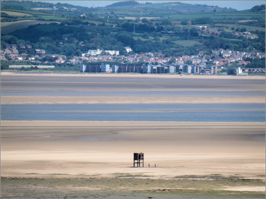 Burry Estuary Anthrax Bomb Test - Looking from Penclawdd across to Llanelli