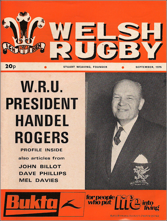 Welsh Rugby September 1975
