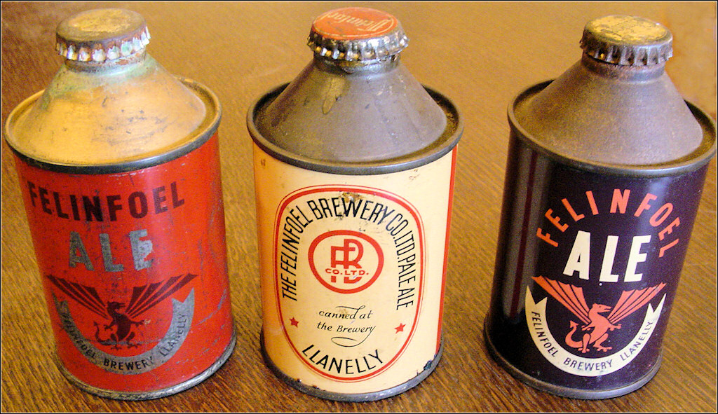 Felinfoel Beer Cans with crown corks